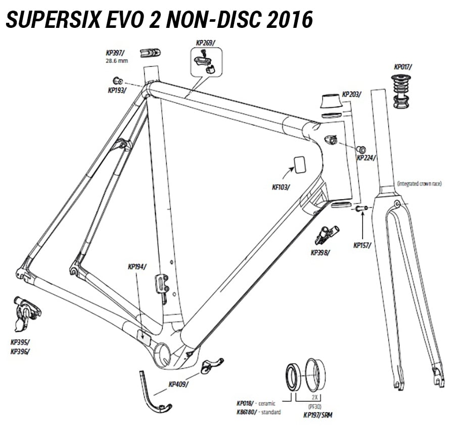 Cannondale SuperSix EVO 2 Bottom Bracket Cable Guide KP398